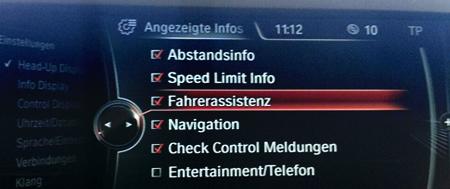 BMW Codierung HUD nachher